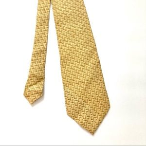 Burberry London Yellow Silk Neck Tie Vintage